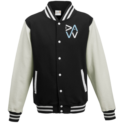Motiv: College Jacke - DaW-Logo Hellblau