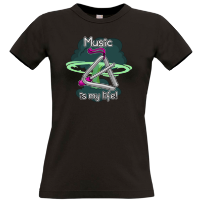 Motiv: T-Shirt Damen Premium FAIR WEAR - Musik
