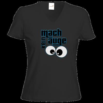 Motiv: T-Shirt Damen V-Neck Classic - mach kein Auge