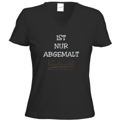 Motiv: T-Shirts Damen V-Neck FAIR WEAR - Abgemalt
