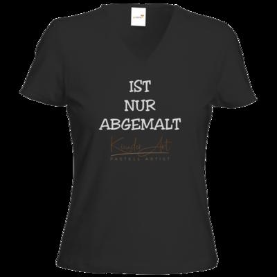 Motiv: T-Shirts Damen V-Neck FAIR WEAR - Abgemalt