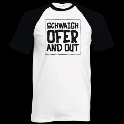 Motiv: TShirt Baseball - Schwaighofer and out