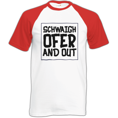 Motiv: Baseball-T FAIR WEAR - Schwaighofer and out