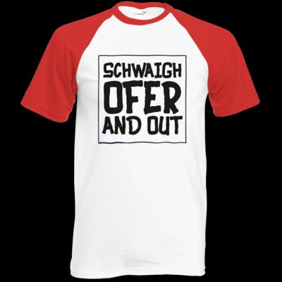 Motiv: Baseball-T FAIR WEAR - Schwaighofer and out