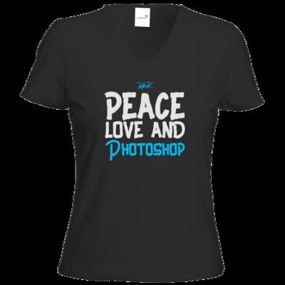 Motiv: T-Shirts Damen V-Neck FAIR WEAR - Love