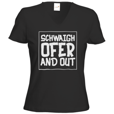 Motiv: T-Shirts Damen V-Neck FAIR WEAR - Schwaighofer and out