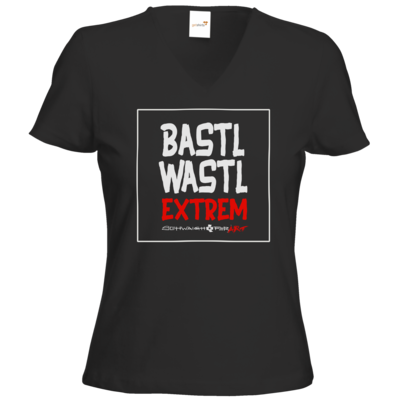 Motiv: T-Shirts Damen V-Neck FAIR WEAR - Bastlwastl extrem