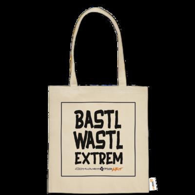 Motiv: Baumwolltasche - Bastlwastl extrem