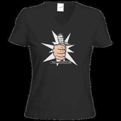 Motiv: T-Shirt Damen V-Neck Classic - #heimwerkerkönig