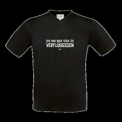 Motiv: T-Shirt V-Neck FAIR WEAR - Ich hab bock dich zu verflüssigen
