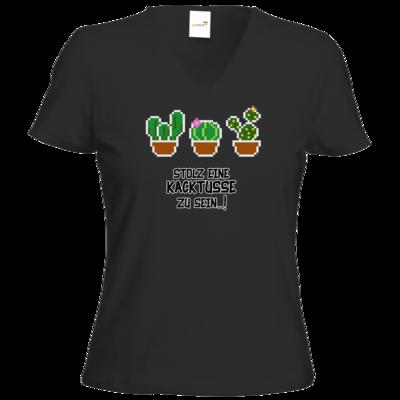 Motiv: T-Shirt Damen V-Neck Classic - Kacktusse