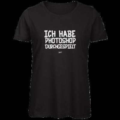Motiv: Organic Lady T-Shirt - Ich hab PS durchgespielt