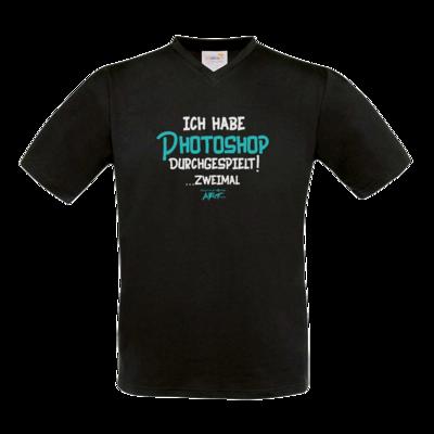 Motiv: T-Shirt V-Neck FAIR WEAR - Ich habe Photoshop durchgespielt