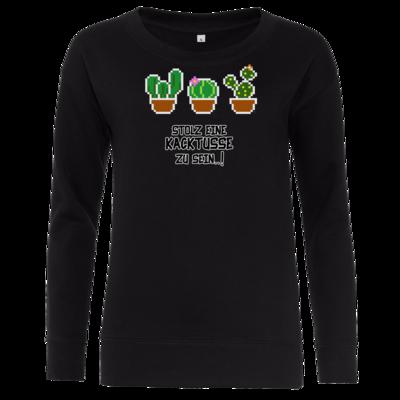 Motiv: Girlie Crew Sweatshirt - Kacktusse