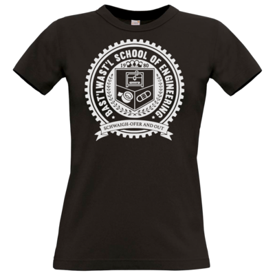 Motiv: T-Shirt Damen Premium FAIR WEAR - Bast'lwast'l School of Engineering