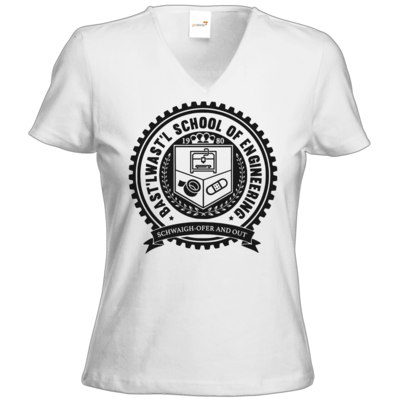 Motiv: T-Shirts Damen V-Neck FAIR WEAR - Bast'lwast'l School of Engineering