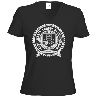 Motiv: T-Shirt Damen V-Neck Classic - Bast'lwast'l School of Engineering