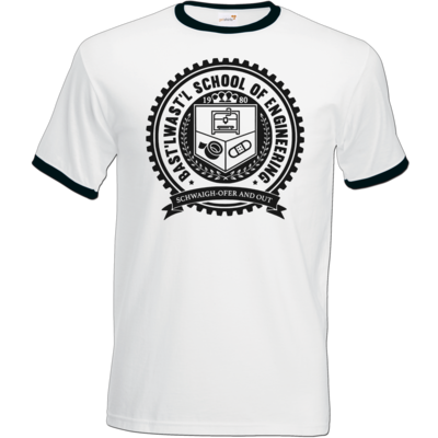 Motiv: T-Shirt Ringer - Bast'lwast'l School of Engineering