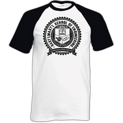 Motiv: TShirt Baseball - Bast'lwast'l School of Engineering