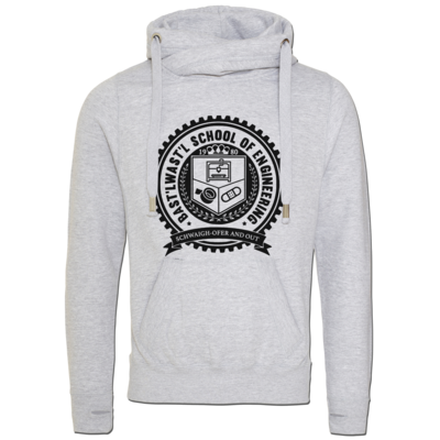 Motiv: Cross Neck Hoodie - Bast'lwast'l School of Engineering