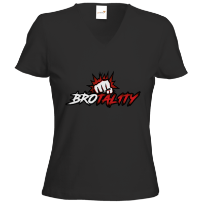 Motiv: T-Shirts Damen V-Neck FAIR WEAR - Redfisting