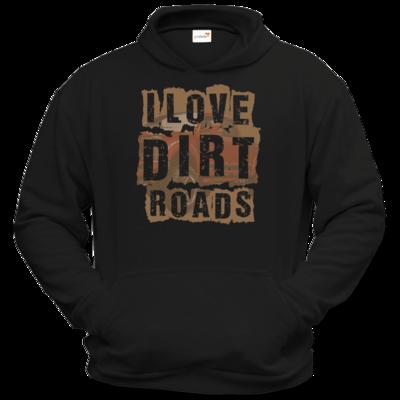 Motiv: Hoodie Classic - I Love Dirt Roads