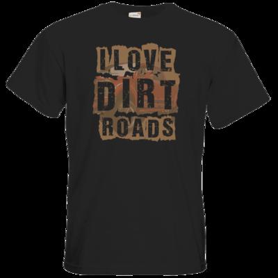 Motiv: T-Shirt Premium FAIR WEAR - I Love Dirt Roads