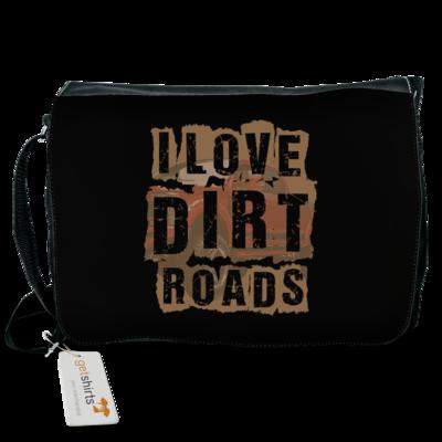 Motiv: Schultertasche - I Love Dirt Roads