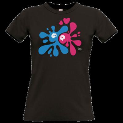 Motiv: T-Shirt Damen Premium FAIR WEAR - Flaplatscher - Flirtsch