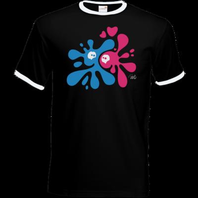 Motiv: T-Shirt Ringer - Flaplatscher - Flirtsch