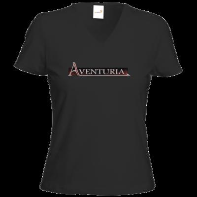 Motiv: T-Shirt Damen V-Neck Classic - Logo - Aventuria