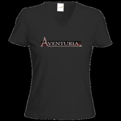 Motiv: T-Shirts Damen V-Neck FAIR WEAR - Logo - Aventuria