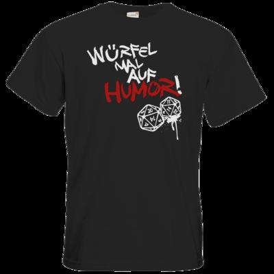 Motiv: T-Shirt Premium FAIR WEAR - Pen & Paper - Würfel mal auf Humor