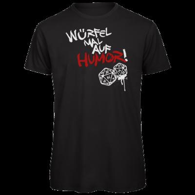 Motiv: Organic T-Shirt - Pen & Paper - Würfel mal auf Humor