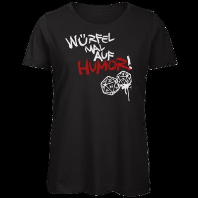 Motiv: Organic Lady T-Shirt - Pen & Paper - Würfel mal auf Humor