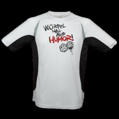 Motiv: Laufshirt Running T - Pen & Paper - Würfel mal auf Humor