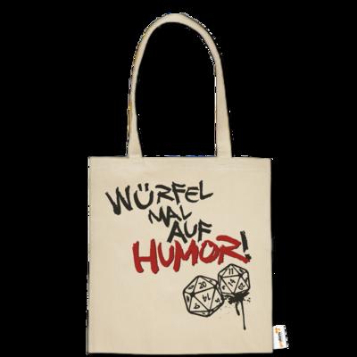 Motiv: Baumwolltasche - Pen & Paper - Würfel mal auf Humor