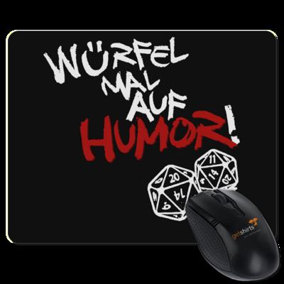 Motiv: Mousepad Textil - Pen & Paper - Würfel mal auf Humor