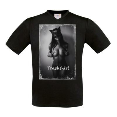 Motiv: T-Shirt V-Neck FAIR WEAR - Cat