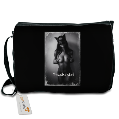 Motiv: Schultertasche - Cat