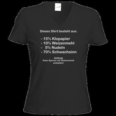Motiv: T-Shirt Damen V-Neck Classic - Schwachsinn
