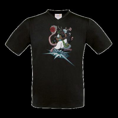 Motiv: T-Shirt V-Neck FAIR WEAR - Alea - Stay Home