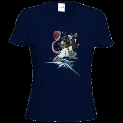 Motiv: T-Shirt Damen V-Neck Classic - Alea - Stay Home