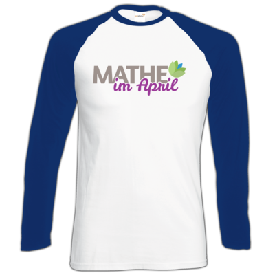 Motiv: Longsleeve Baseball T - Mathe im April 2020