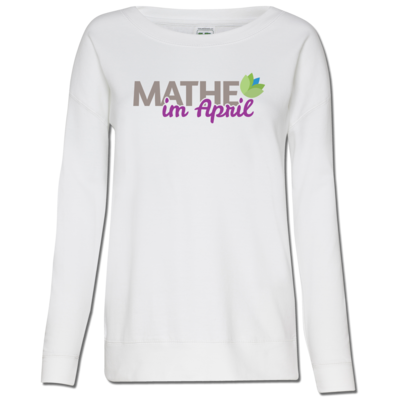 Motiv: Girlie Crew Sweatshirt - Mathe im April 2020