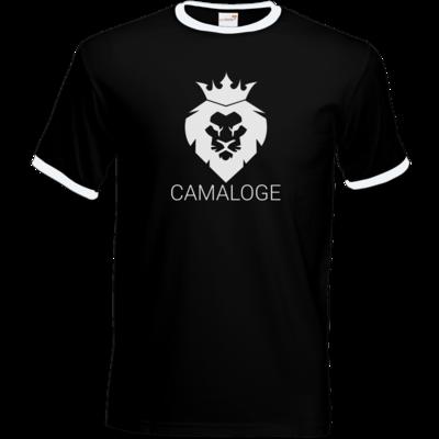 Motiv: T-Shirt Ringer - Camaloge-Löwe