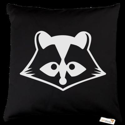 Motiv: Kissen Baumwolle - Coon bw Logo