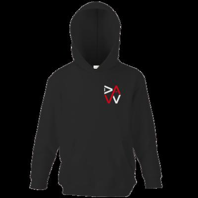 Motiv: Kids Hooded Sweat - DaW-Logo Rot