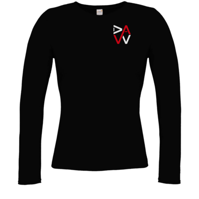 Motiv: Longsleeve Damen Organic - DaW-Logo Rot