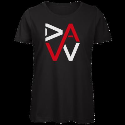 Motiv: Organic Lady T-Shirt - DaW-Logo Rot
